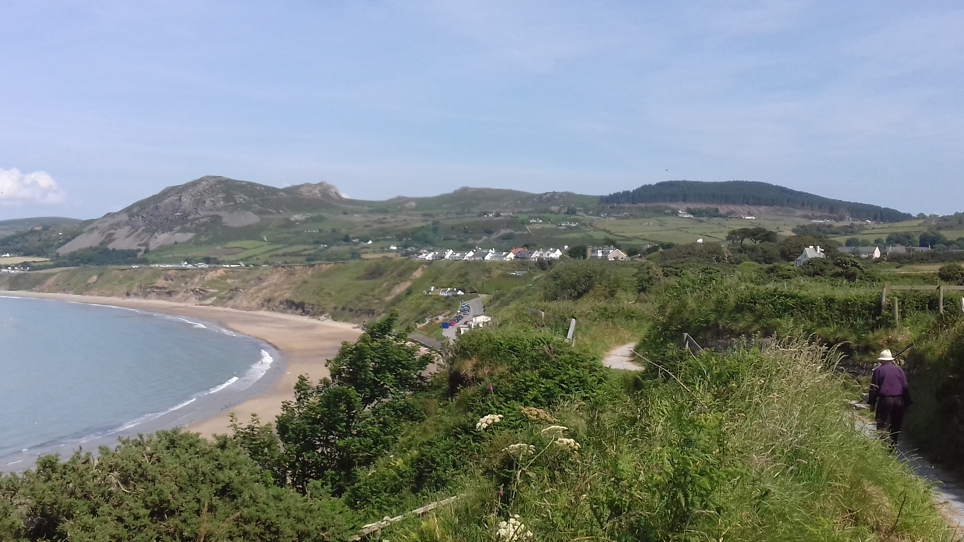 View of Nefyn beach from the Wales Coast Path Llŷn Peninsula