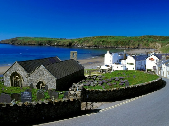 The village of Aberdaron Llyn Peninsula