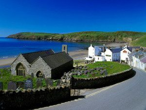 The village of Aberdaron Llyn Peninsula