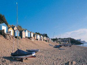 Beach huts on Abersoch beach Llyn Peninsula