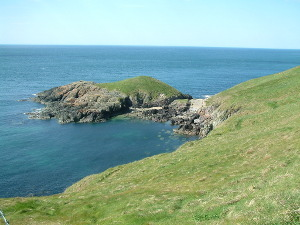 View of the coastline Wales Coast Path to Porthor Porth Oer Whistling Sands Llyn Peninsula