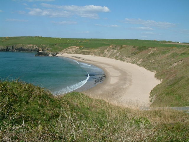 Porth Oer beach from the wales coast path