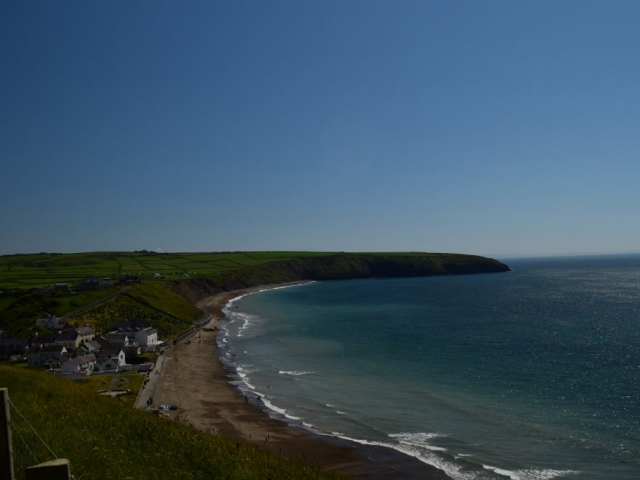 A view fo the beach at Aberdaron Llŷn Peninsula