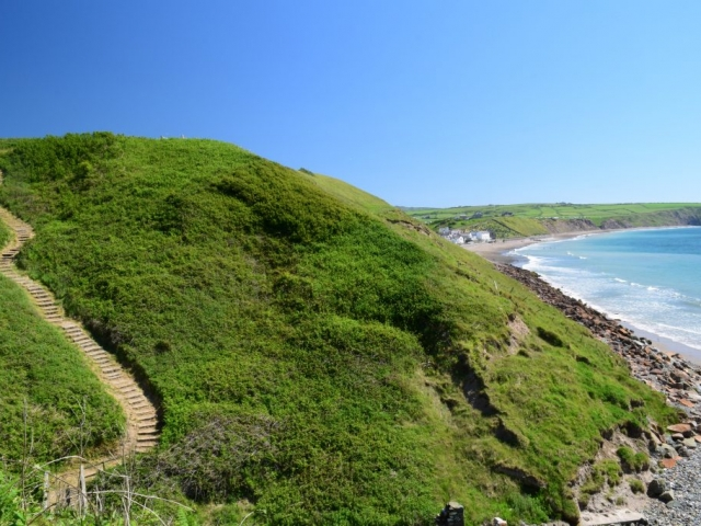 The steps to Porth Meudwy Aberdaron