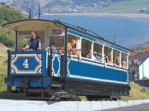 A photo of the tram on the Great Orme Tramway Llandudno North Wales