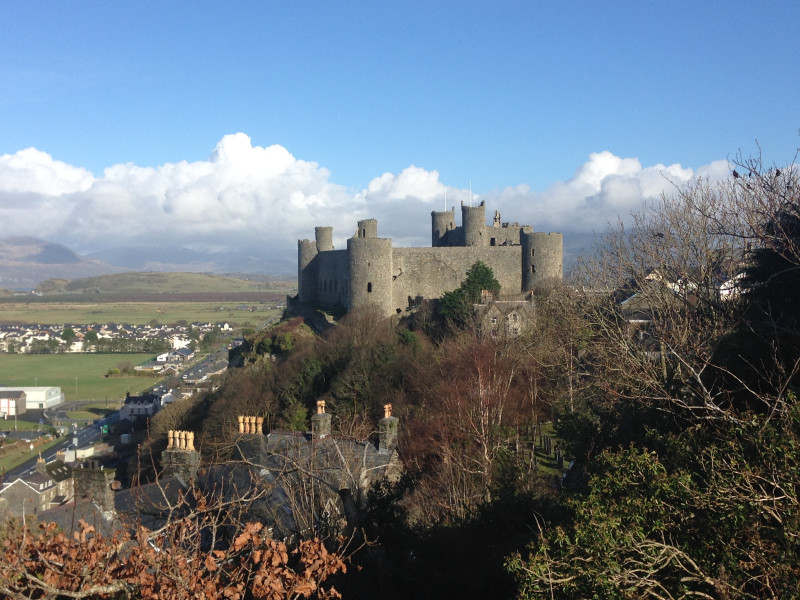 A view of Harlech Castle Harlech North Wales