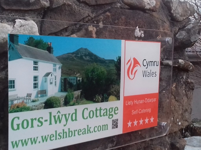 Gors-lwyd Cottage Sign