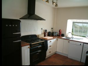 Fully equiped modern kitchen at Gors-lwyd Cottage
