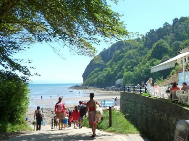 Llanbedrog Beach and Cafe Llyn Peninsula