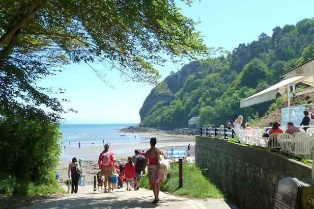 Llanbedrog Beach and Cafe Llyn Peninsula