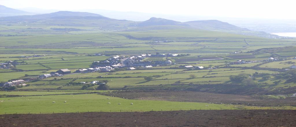View of Llithfaen from Caer Gribin Llyn Peninsula North Wales
