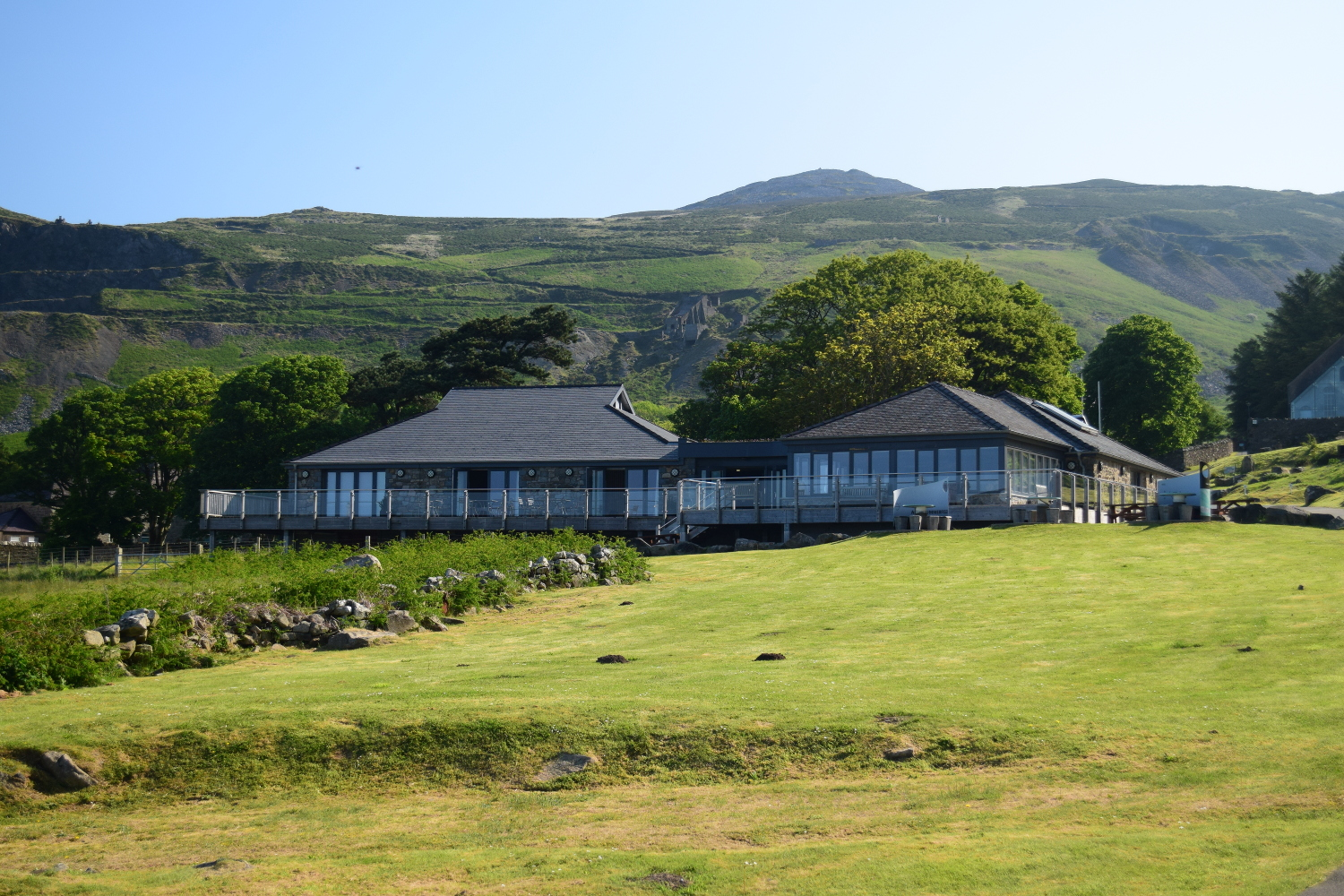 View of the cafe and restaurant at Nant Gwrtheryn Llithfaen Llyn Peninsula North Wales