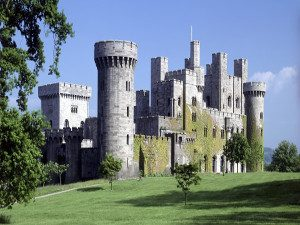 A view of Penrhyn Castle and gardens Bangor North Wales