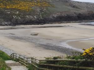 The steps down to Porth Ceiriad beach Abersoch Llŷn Peninsula