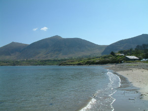 View along the beach at Trefor