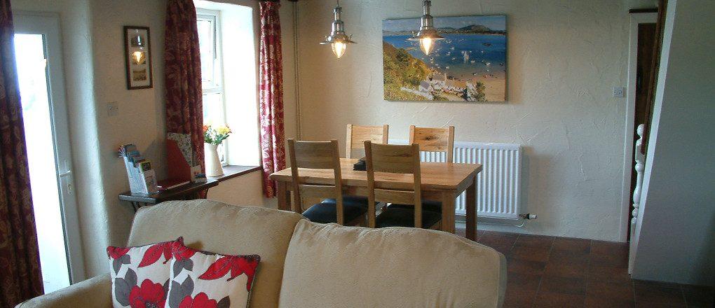Dining Room at Gors-lwyd Cottage Llithfaen Llyn Peninsula North Wales