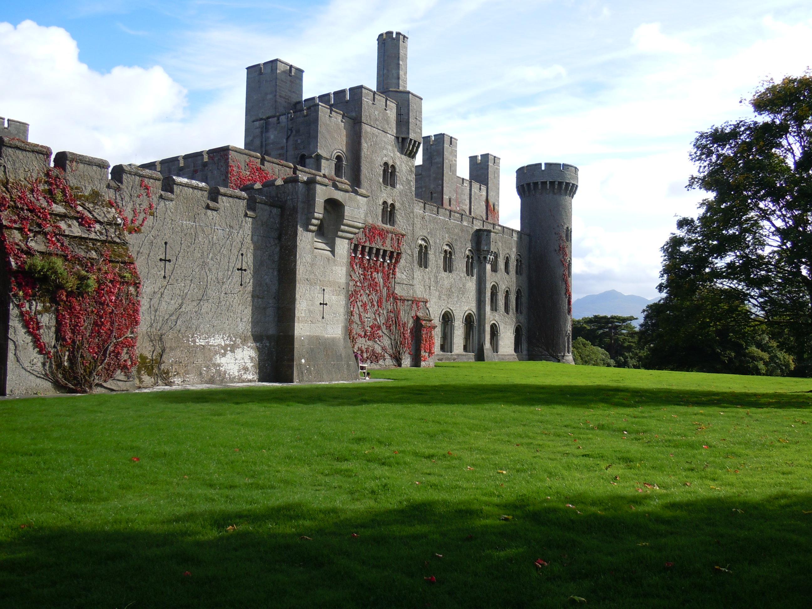 View of Penrhyn Castle Bangor Llyn Peninsula