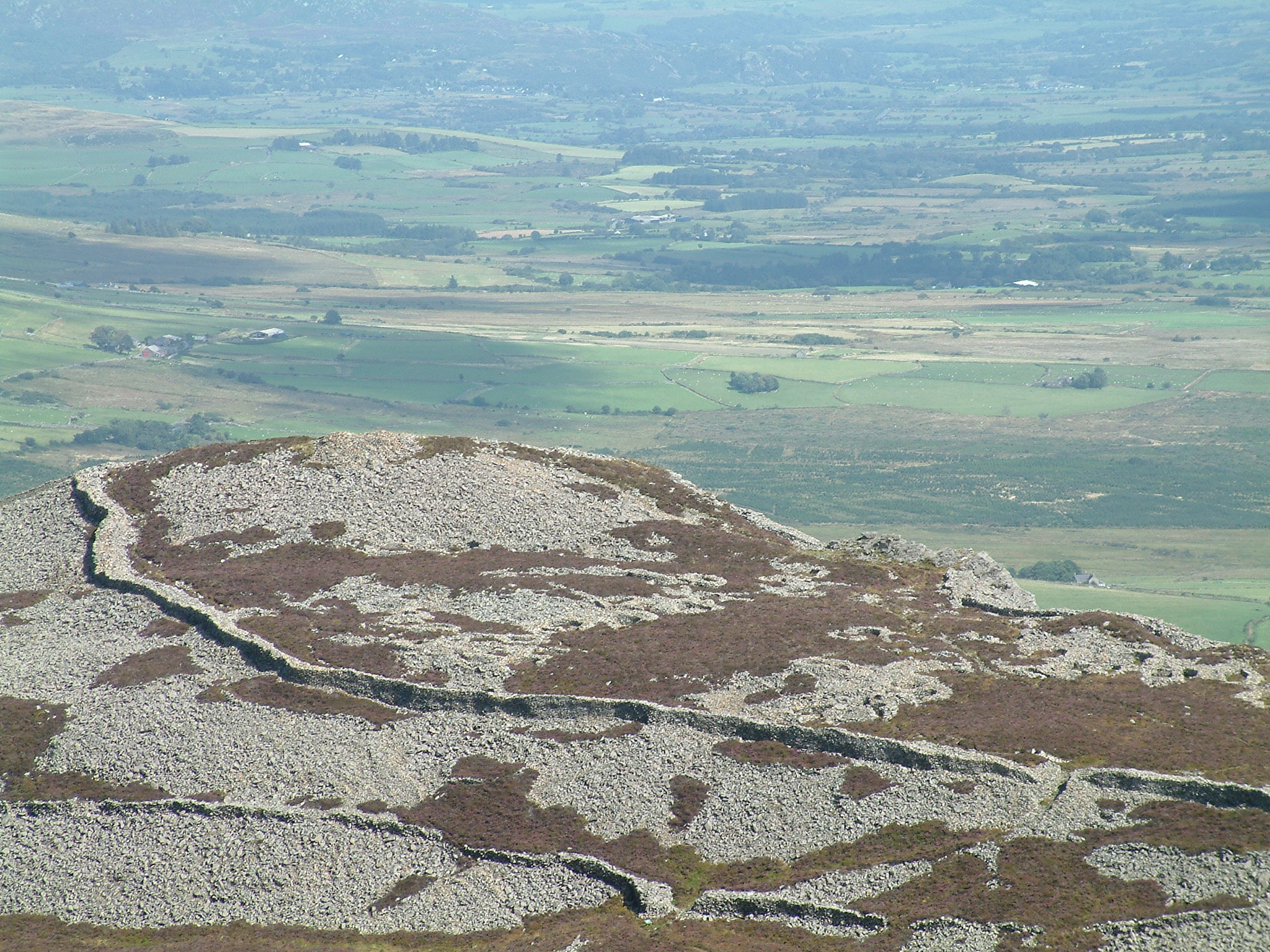 View of Tre'r Ceiri from Yr Eifl Summit