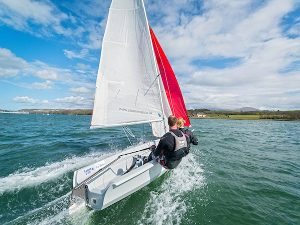 Sailing Dinghy at Plas Heli Pwllheli Sailing Centre