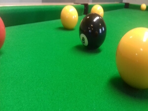 Image of pool table 8 ball