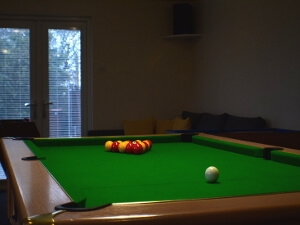 Image of Gors-lŵyd Cottage Games Room with pool table