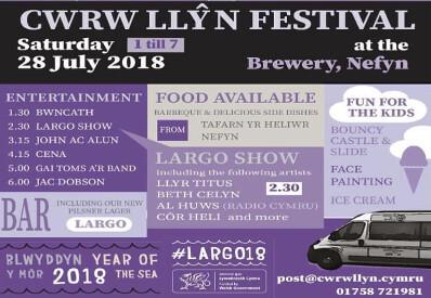 Cwrw Llŷn Festival 28 July Nefyn Llŷn Peninsula