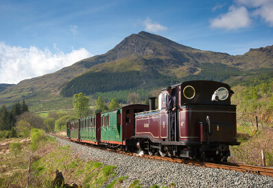 ffestiniog and welsh highland railway on route through snowdonia national park