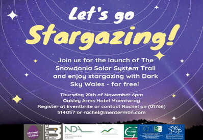 Snowdonia Solar System Trail and Stargazing Evening 29 Nov 2018