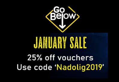 Go Below discount offer for january 2020