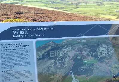 Information Board for Yr Eifl National Nature Reserve