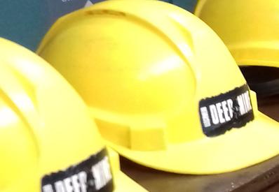 Llechwedd deep mine tour hard hats