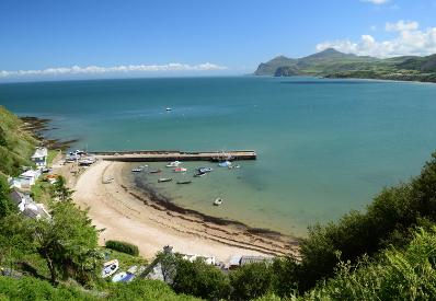 Nefy Beach from the Wales Coast Path