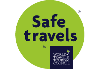 The World Travel & Tourism Council Safe Travels mark.
